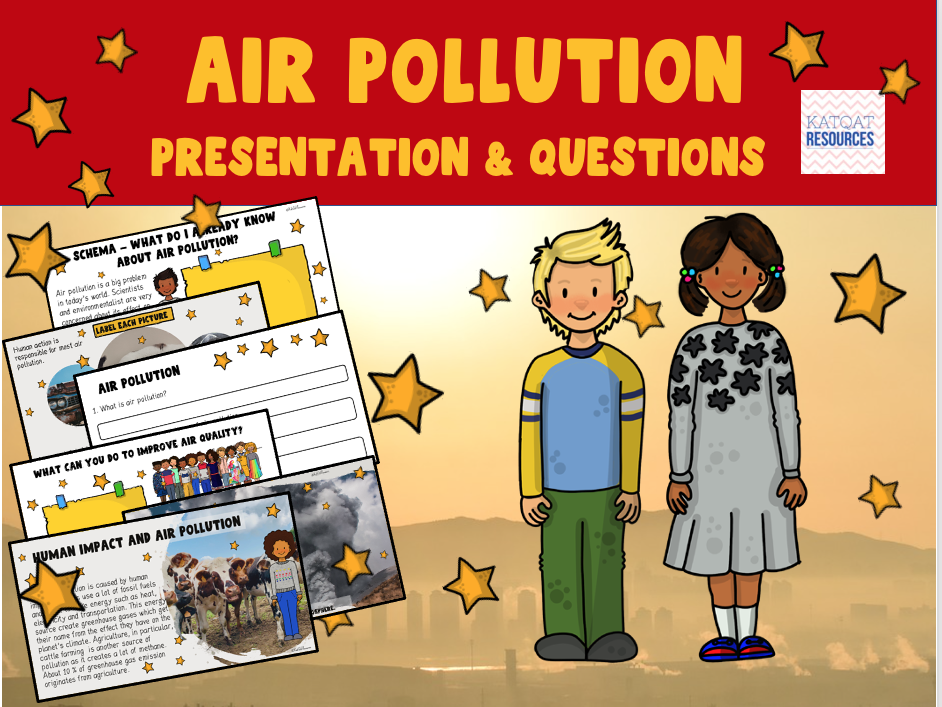 Air Pollution - Earth Day - PowerPoint Presentation - No Prep Lesson