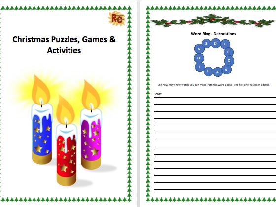 Christmas Puzzles, Games & Activities Workbook