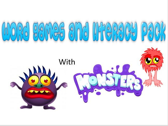 Word Games, Literacy and Monsters Resource Bundle