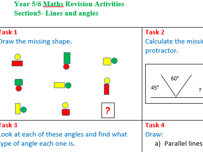 End of the year Maths Revision Activities