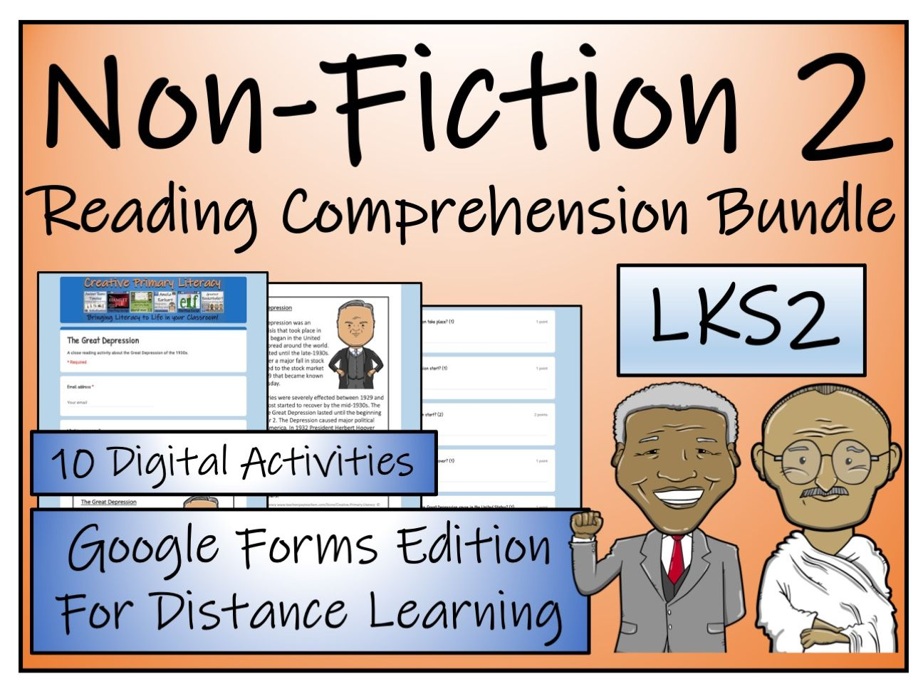 LKS2 Non-Fiction Collection; Volume 2 - Reading Comprehension & Distance Learning Bundle