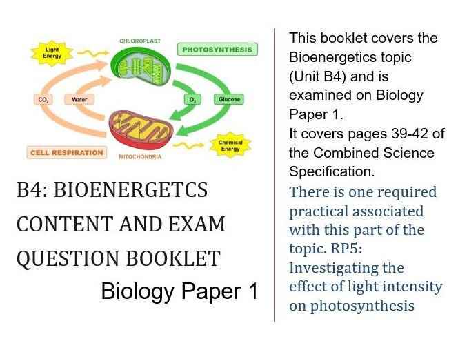 B4 - Bioenergetics (AQA GCSE Trilogy Higher)