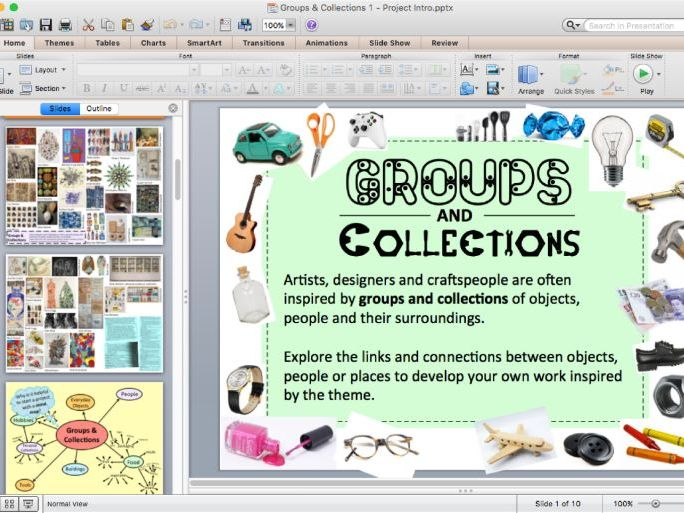 Groups & Collections 1 - Art Project Intro