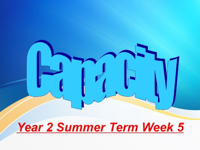Year 2 Summer Term Week 5 Capacity and Shape and Space.