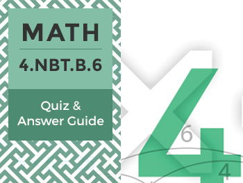 4.NBT.B.6 - Quiz and Answer Guide