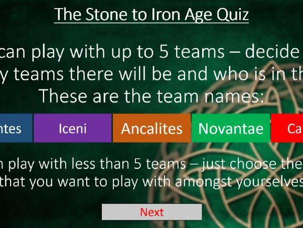 Stone Age to Iron Age KS2 Quiz