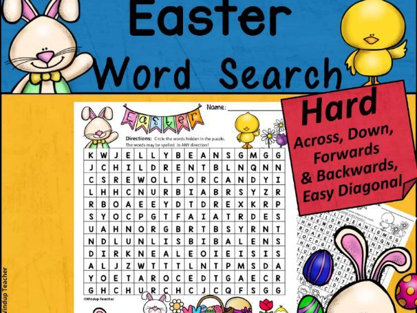 Easter Word Search | HARD
