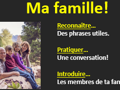Introducing brothers and sisters in French