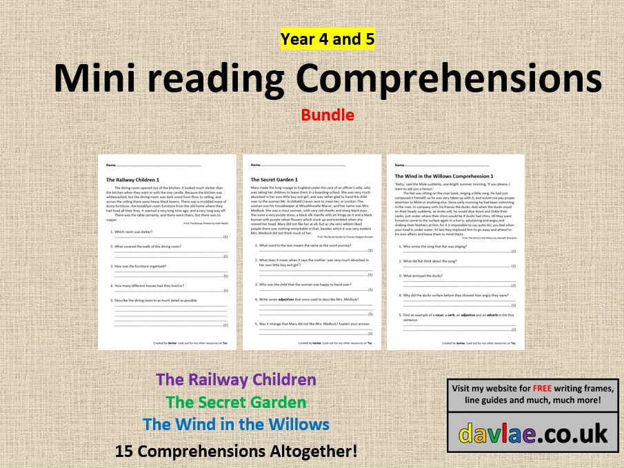 Mini Comprehensions for Year 4 and 5 Bundle