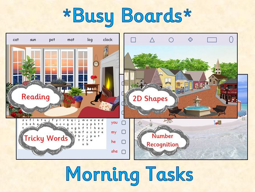 Morning Tasks for the Interactive Whiteboard