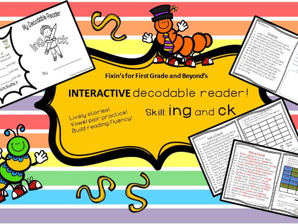 Interactive Decodable Reader/Printable Booklet - ING / CK-WorkingwithWords
