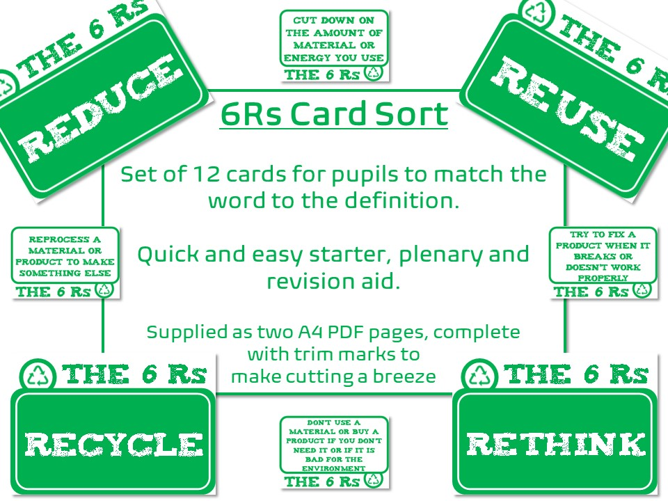 6Rs of Sustainability Card Match