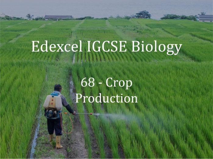 Edexcel IGCSE Biology Lecture 68 - Crop Production