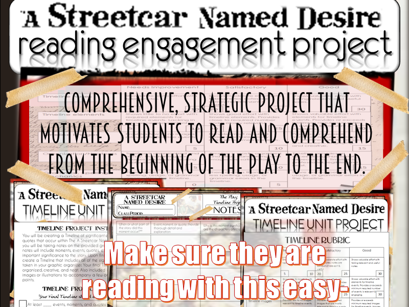 A Streetcar Named Desire: Reading Project Assessment