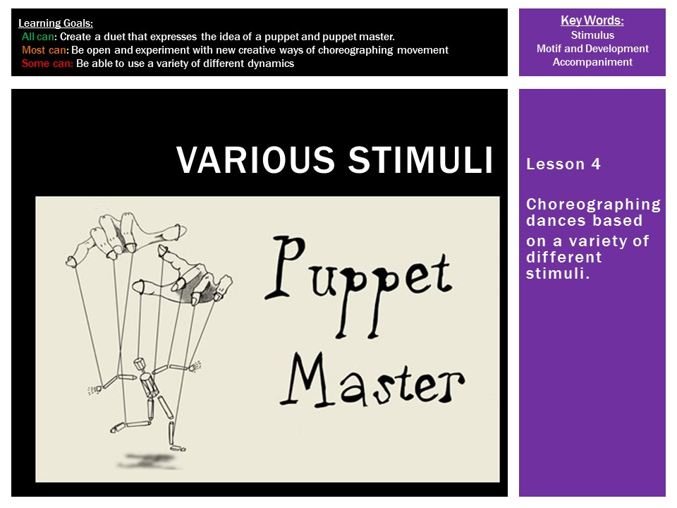 Dance Choreography: Various Stimuli L4