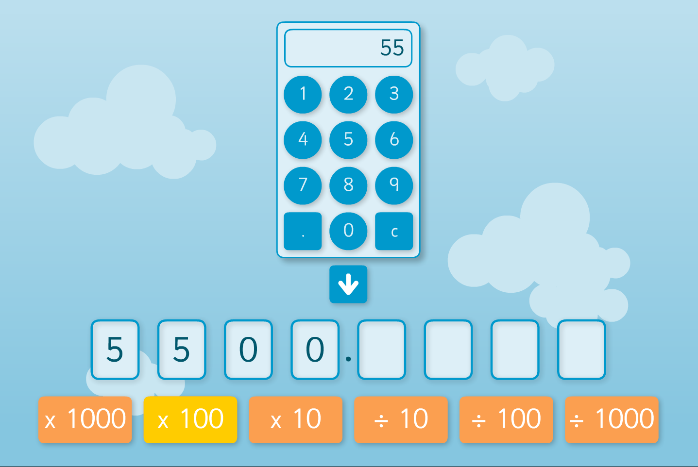Place Value Shifter - Interactive Tool - KS2 Number