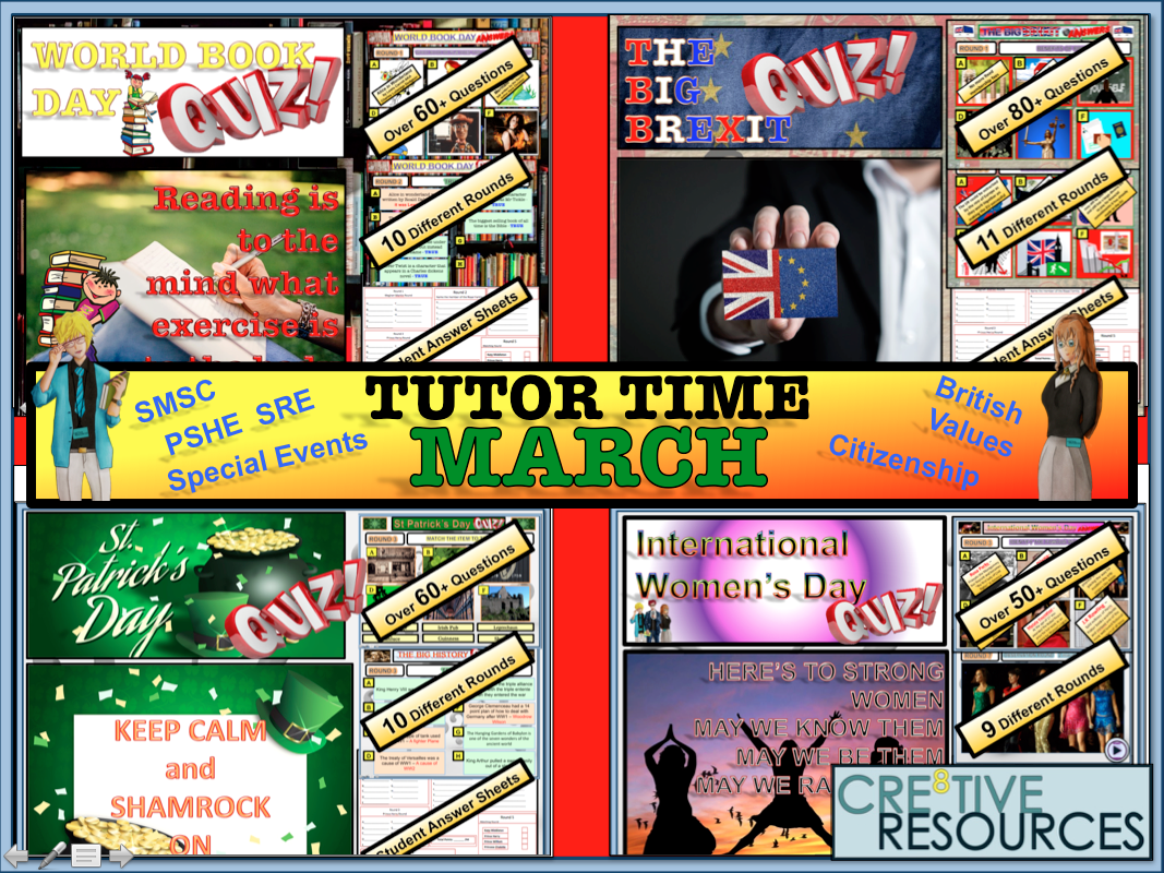 March Tutor Time Quiz Package 2019