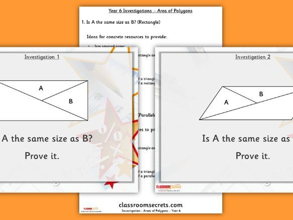 FREE Year 6 Area of a Polygon Investigation Summer Block 4