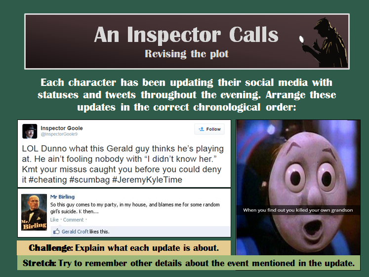 An Inspector Calls GCSE  revision for AQA Literature Paper 2