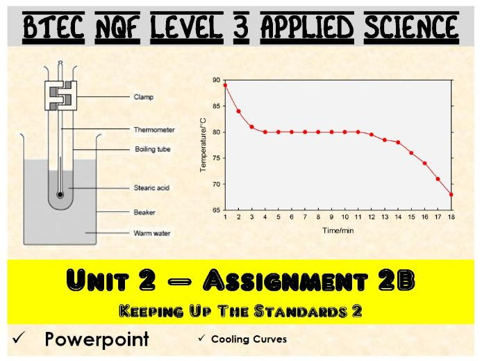 BTEC NQF L3 Applied Science: Unit 2: Assignment B: Cooling Curves powerpoint