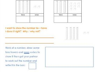 Tens and Ones Worksheet for KS1
