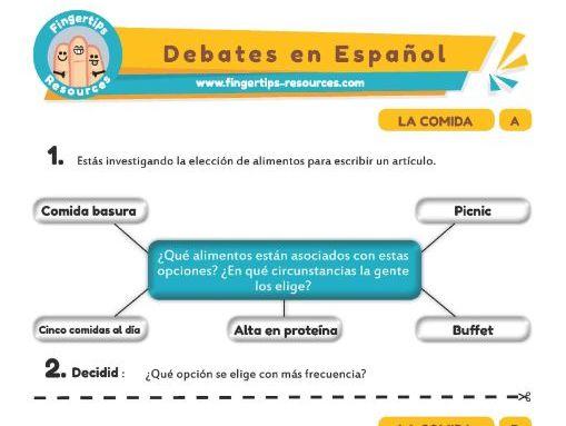 Comida - Debates in Spanish