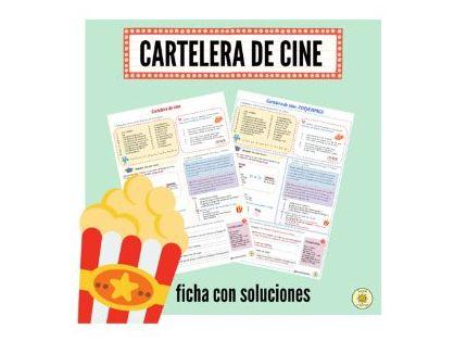 Cartelera de cine. Películas y futuro próximo. Soluciones. Spanish Films + near future. Answers