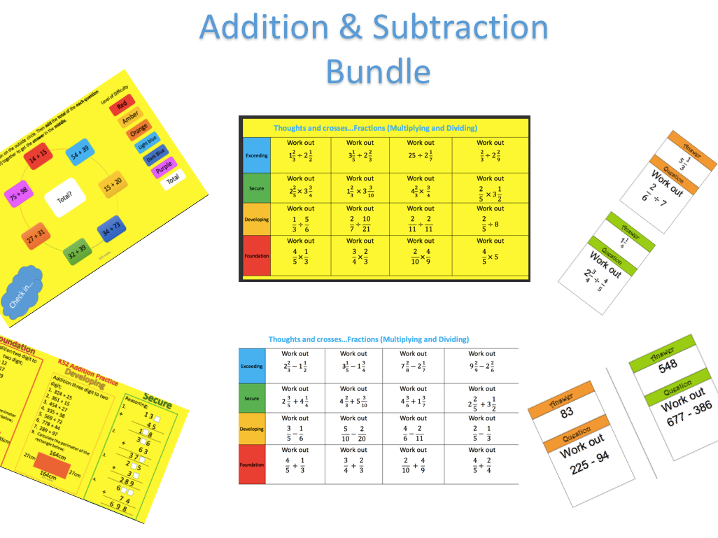 Addition and Subtraction Tasks