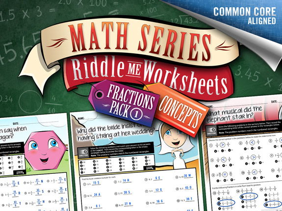 Fractions Worksheets: Concepts Pack – Riddle-Me-Worksheets