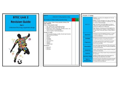 BTEC Level 3- Sport - Unit 2 - Part E Understanding Training Programme Design
