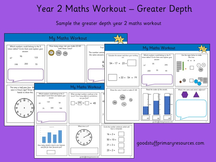 Year 2 Maths Workout- Greater Depth