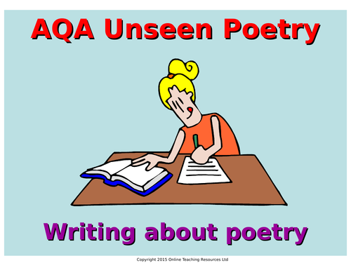 Unseen Poetry and Unseen Poetry Comparison