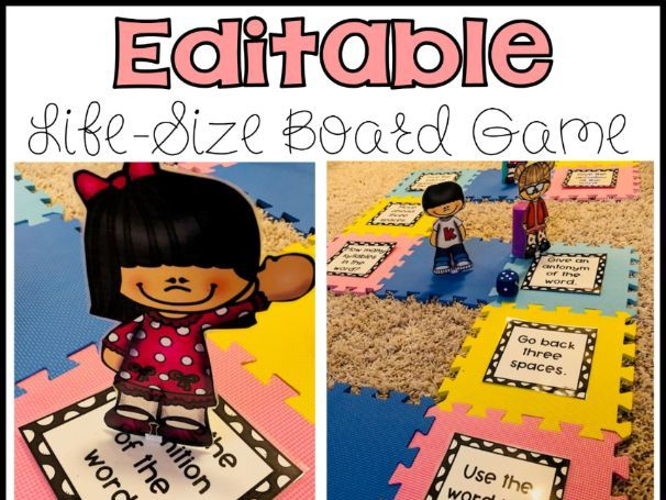 Editable Life-Size Game Board Game (NOT FOR COMMERCIAL USE)