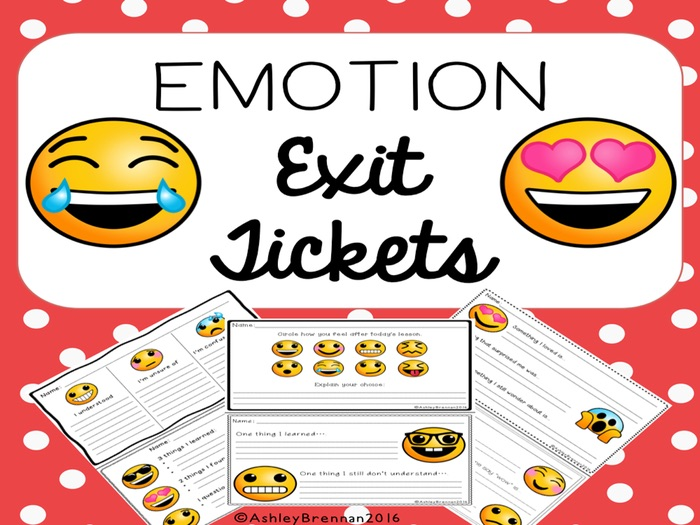 FREE Emotion Exit Tickets - Formative Assessment for Any Subject