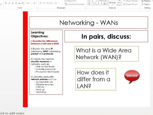 WAN's and networking