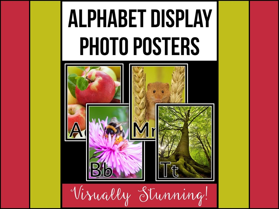 Alphabet Display Photo Posters
