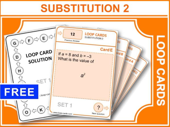 Substitution 2, Positives and Negatives (Loop Cards)
