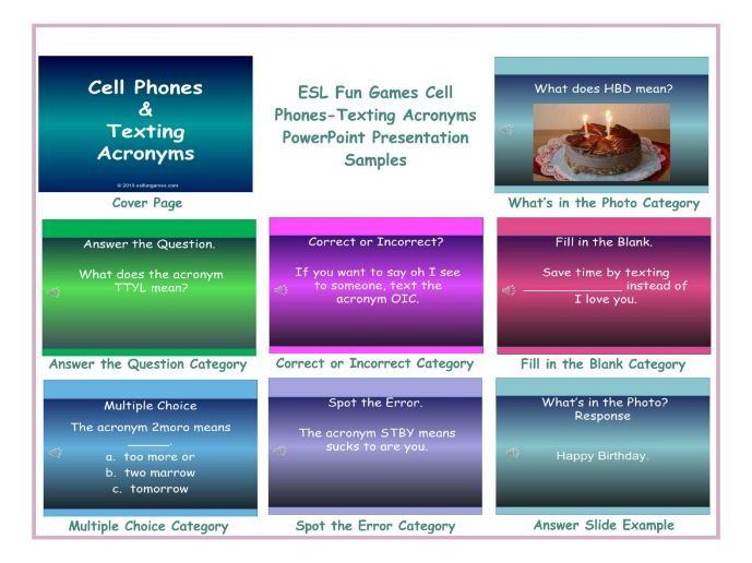 Cell Phones-Texting Acronyms PowerPoint Presentation
