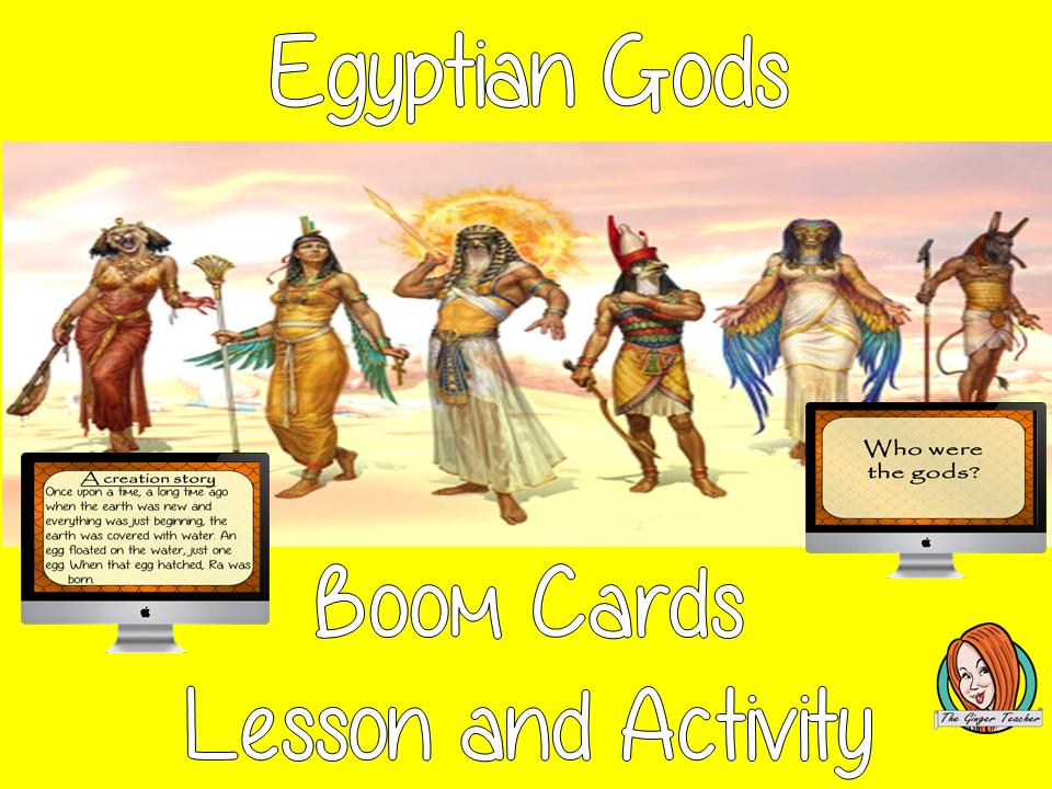 Egyptian Gods - Boom Cards Digital Lesson