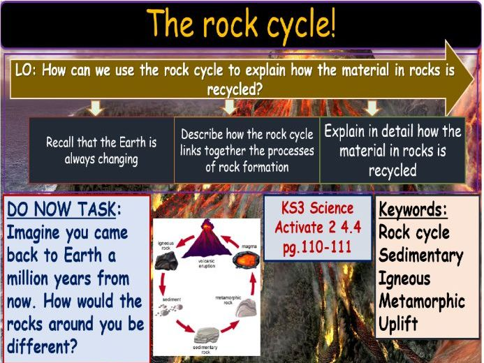 The rock cycle KS3 Science
