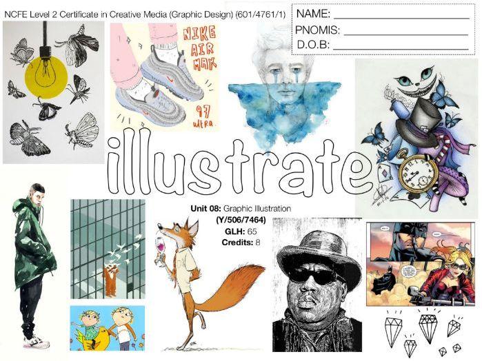 NCFE L2 Graphic Design UNIT 08 - SCHEME OF WORK