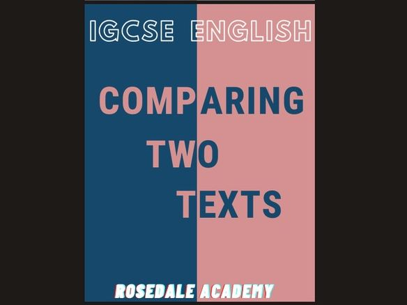 Comparing Non-Fiction Texts ~ Anne Frank & D . H . Lawrence  IGCSE English  Top Students'  Work 100%