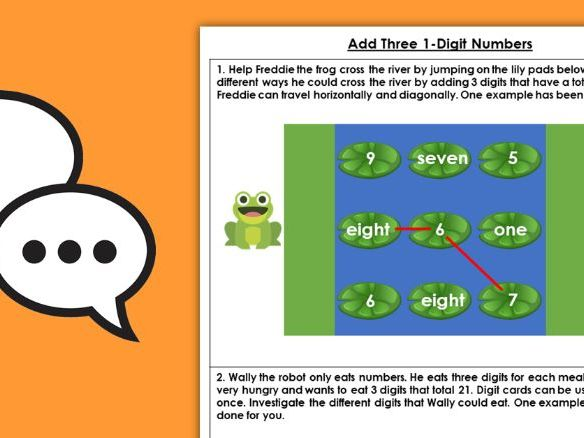 Year 2 Add Three 1-Digit Numbers Autumn Block 2 Maths Discussion Problems