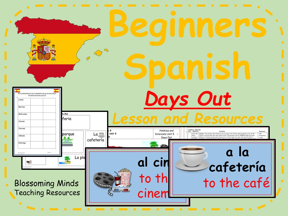 Spanish Lesson and Resources - KS2 - Days Out