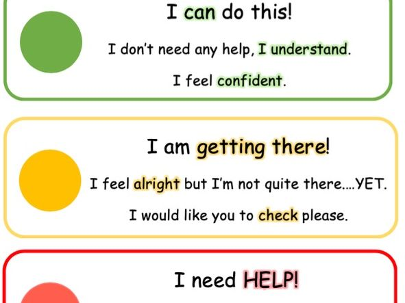 Self Assessment Tray Labels