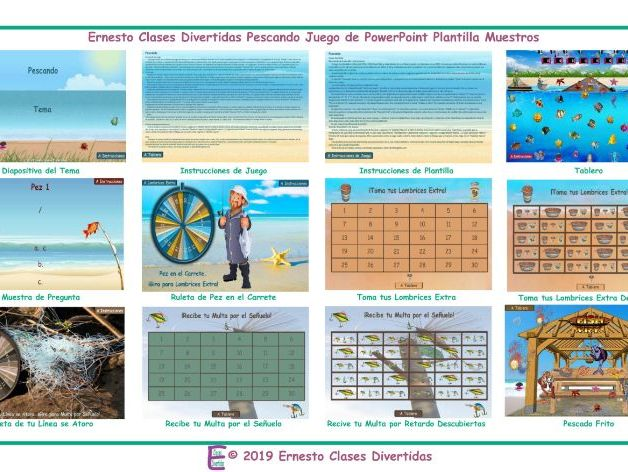 Fishing Spanish Powerpoint Game Template An Original By Esl Fun