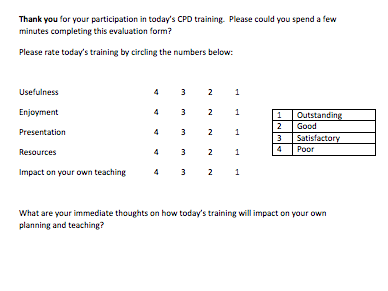 Generic CPD Evaluation Form