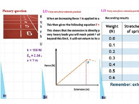 GCSE Physics: Energy - Ee Stores