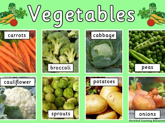 VEGETABLES - A4 POSTER WITH TEXT