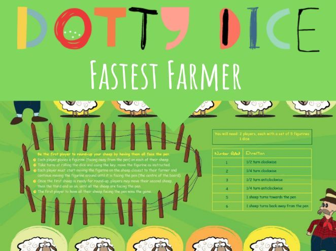 Fastest Farmer - Rotating Objects clockwise and anticlockwise  - Board Game